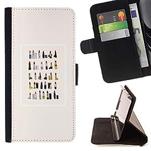 For Sony Xperia Z2 D6502 Case , Colección moda de la acuarela- la tarjeta de Crédito Slots PU Funda de cuero Monedero caso cubierta de piel