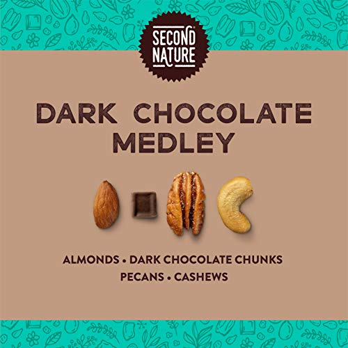 Second Nature Dark Chocolate Medley Trail Mix Snack, Gluten Free 4.5 Dark, Dark Chocolate Medley Mix 54 Ounce (Pack of 12)