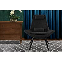 Modern Contemporary Linen Fabric Living Room Accent Chair (Ash Grey)
