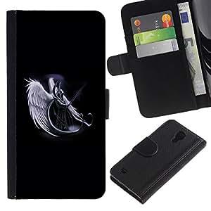 All Phone Most Case / Oferta Especial Cáscara Funda de cuero Monedero Cubierta de proteccion Caso / Wallet Case for Samsung Galaxy S4 IV I9500 // Horned Angel Warropr