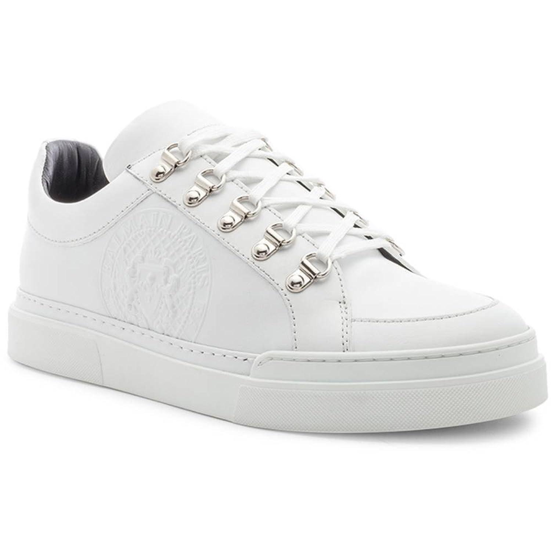 (バルマン) BALMAIN メンズ シューズ靴 スニーカー Leather Coral Low Sneakers [並行輸入品] B07F73DZ97