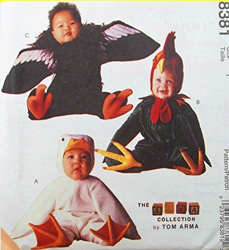McCall's 8381 Toddler Duck Rooster Condor Costume Sewing Pattern Tom Arma Halloween Size 2