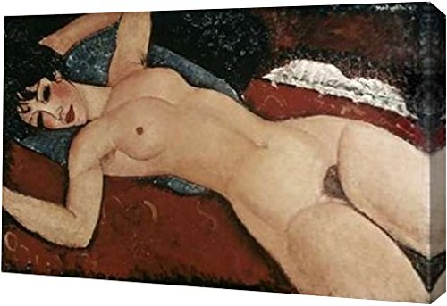 """Reclining Nude by Amedeo Modigliani - 10"""" x 16"""" Gallery Wrapped Giclee Canvas Art Print - Ready to Hang"""