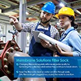 Membrane Solutions 25 Micron Polyester Needled Felt Liquid Filter Sock Bag 7''x32'' 2Pack,Filter Socks
