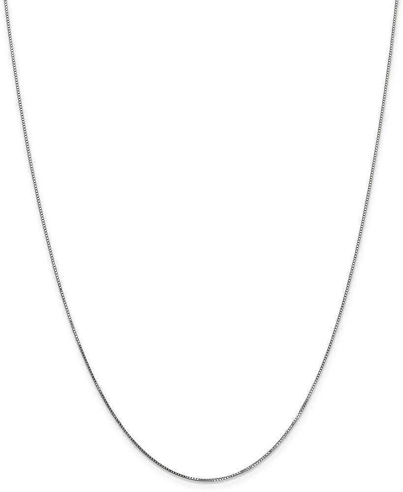 Jewelry Best Seller Leslie 14K White Gold .8 mm Box Chain