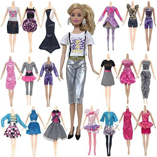 10 PCS Daily Apparel Girls Dress vêtements de poupée de pour Barbie-style aléatoire