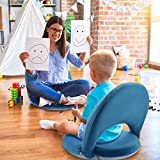 Floor Chair Adjustable NNEWVANTE Back Support Chair Foldable Mediation Seating Suede-Like Fabric Multiangle Cushioned Recliner for Adults Kids Video-Gaming Reading Watching, Navy