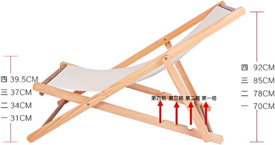 Recliner Réglable pour L'utilisation Intérieure Extérieure De Camping,Plage Légère Chaise pour Adultes,Pliable Portable Chaise Longue Bois N