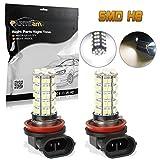 04 accord fog lights - Partsam Car White LED H8 H11 Fog Driving Bulb Light Lamp 12V 68-3528-SMD DRL Daytime Running Light 64212 Super Bright Xenon White 6000k Led (A Pair)