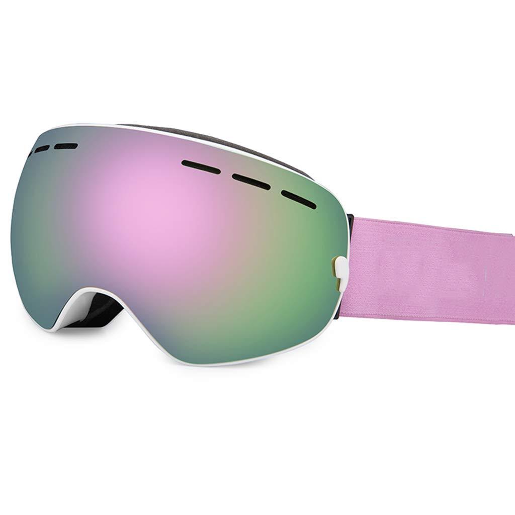 Yxx max スキーゴーグル 大人用 男女兼用 ゴーグル 曇り止め ミオピアゴーグル スキー UV400 保護 C