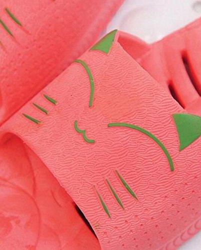 Bains Antidérapantes Pantoufles Pantoufles Créatif couleur M Pantoufles Salle Rose Pastèque Animé Été Creux Taille Suxian Pantoufles Couple De Dessin Sandales Rouge PnvgxqO5g