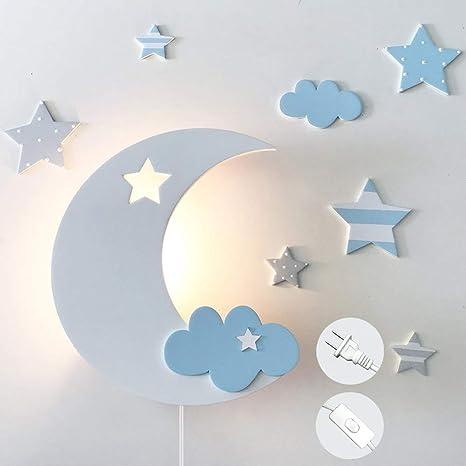 Anye Moon Light For Kids Star Cloud Night Lamp Wall Lamp Lovely Night Sky Nursery Wall Decor Wall Lighting Night Lamp Bulb Is Not Included E26 Diy Bd1339 Amazon Com