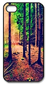 iPhone 4s Case and Cover -Trees PC Hard Plastic Case for iPhone 4/4S Black