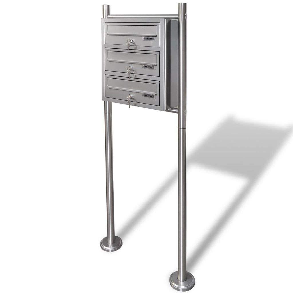 Binzhoueushopping Cassetta della Posta con Supporto in Acciaio Inox cassetta posta esterno cassetta posta americana cassetta posta acciaio
