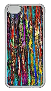 Colored Tree Bark 2 Personalized Custom Hardshell Back Case for iphone 5C Transparent -1126033