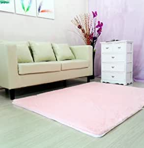 pink rugs for living room auvoau soft modern shag area rugs purple 23513