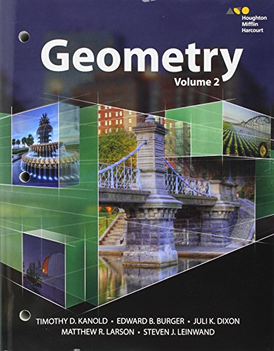 HMH Geometry: Interactive Student Edition Volume 2 2015