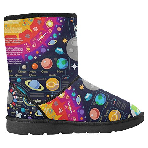 Galaxy 1 Of Multi InterestPrint Horizons Space Womens The New Boots Winter Comfort Universe Snow Boots Unique Designed aRZzqaF