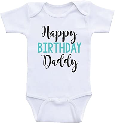 Second Ave Cute Babygrow Baby Grow Vest Shortsleeve Bodysuit Happy Birthday Daddy Gift