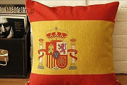 yirone (TM) – Fundas de Cojín de Almohada de cojines de bandera de España sofá cojines de silla Shabby Chic Decoración del hogar: Amazon.es: Hogar