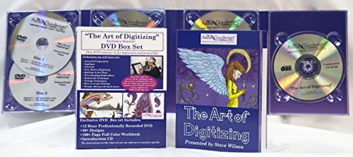 Anita Goodesign - ART OF DIGITIZING DVD BOX SET by STEVE WILSON + Bonus Floriani Digitizing Software