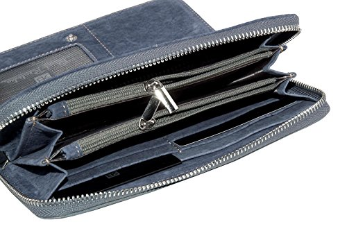 Cartera mujer RENATO BALESTRA jeans modelo compacto con zip A4157