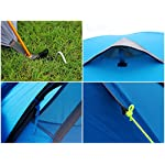 GEERTOP 3-4 Season Tent for Camping 2-3 Person Double Layer Lightweight Backpacking Freestanding Outdoor Hiking Waterproof Backpack Tents - Easy to Set Up 14 【Large Space】Tent size is 83(L) x 71(W) x 47.2(H), with extral vestibule to put the camping gears, luggage; it is a roomy camping travel dome tent with plenty of space for you and a family member or friends; Providing a comfortable and spacious outdoor shelter that comfortably fits 2 man or 3 person 【Waterproof Tent】Geertop 3 season tent - 210D PU5000 mm waterproof Oxford cloth ripstop floor + 210T PU3000 mm anti-tear plaid polyester tent fly while double-sided adhesive waterproof strip seam, ensure water does not make its way into the inside of tent , offer a comfortable camping experience 【Excellent Ventilation 】The camping inner tent made of 210T breathable polyester + high density fine nylon mesh with 2 doors + 2 ventilation windows + 2 vestibule, allowing for greater airflow throughout the tent, avoiding bothered by stuffiness