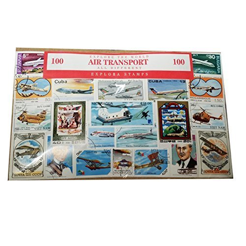 Explora Lot de 100timbres de collection Thème aviation/histoire du transport aérien Timbre-poste