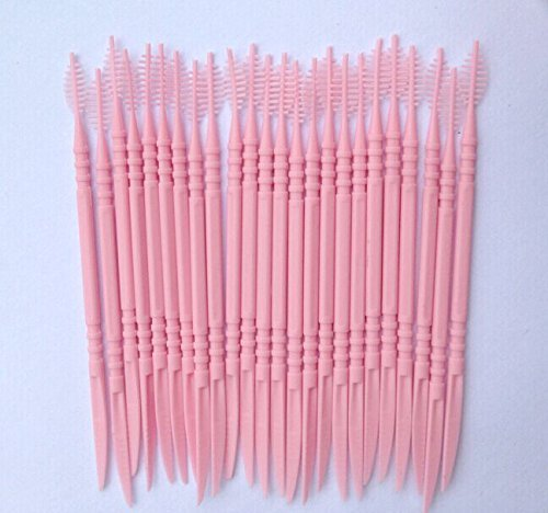 Funwill Oral Dental Picks Tooth Pick Interdental Brush with Portable Case 150pcs 2 way