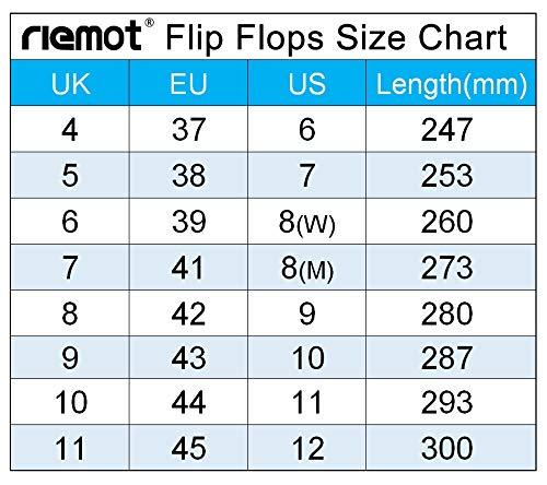 Riemot Flip Flops For Women And Men Lightweight Toe Post Slippers