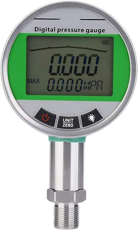 0 1 6mpa Digital Edelstahl Hydraulik Manometer Fernübertragung Manometer Für Gas Wasser Öl Mit M20 1 5mm Stecker Küche Haushalt