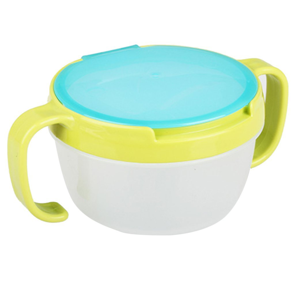Guguogo Portable Infants Baby Kids Spill-Proof Snack Bowl Tableware Food Container Box gugutogo