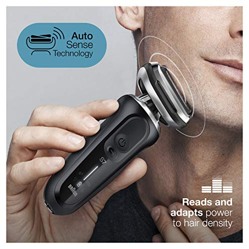 Braun Electric Razor for Men, Series 7 7075cc 360 Flex Head Electric Shaver with Beard Trimmer, Rechargeable, Wet & Dry, 4in1 SmartCare Center and Travel Case