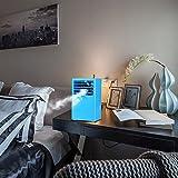 Portable Air Conditioner Madoats Small Desktop Fan Quiet Personal Table Fan Mini Evaporative Air Circulator Cooler Refrigeration Humidifier,Blue
