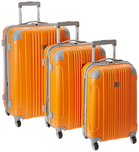 Beverly Hills Country Club Newport 3-Piece Hardside Spinner Luggage Set, Orange (21