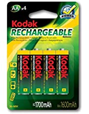 Kodak Rechargeable Ni-mH AA 4 Pack Batteries, (30819887)