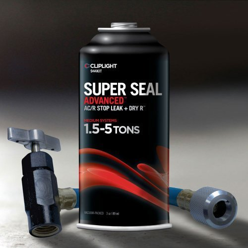Cliplight Super Seal Advanced 944KIT - Permanently Seals & Prevents Leaks in A/C & Refrigeration Systems - 1.5-5 TONS by Cliplight
