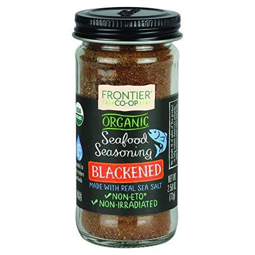 Frontier Organic Seafood Seasoning, Blackened, 2.5 Ounce