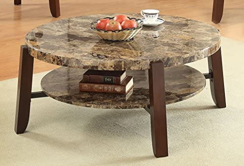 Magnificent Acme Lilith Faux Marble And Cherry Coffee Table Dailytribune Chair Design For Home Dailytribuneorg