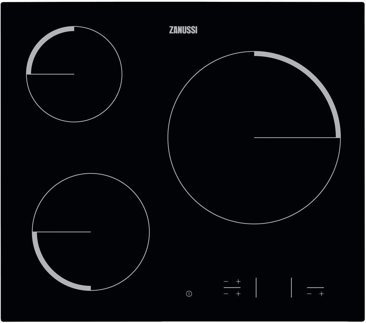 Zanussi ZEV6330FBA Placa vitrocerámica, Biselada, 3 zonas de ...