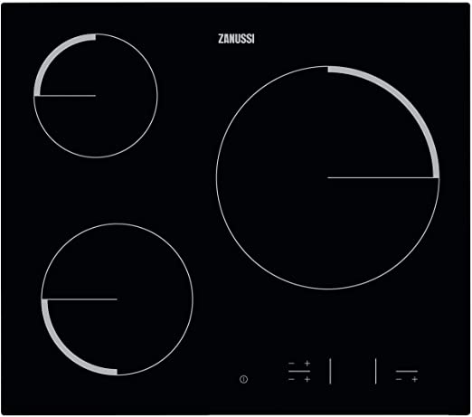 Opinión sobre Zanussi ZEV6330FBA Placa vitrocerámica, Biselada, 3 zonas de cocción, Paellero, Panel de control táctil independiente, Bloqueo Seguridad, Sin Marco, Negro, 60 cm