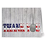 Thank You for Your Service - 36 Patriotic Note Cards - Blank Cards - Red Envelopes Included