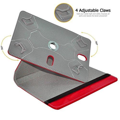 Aventus (Red) 10.1 Tablet 360 Grad drehende lederne Schwenker-Standplatz-Fall-Abdeckung mit Schreibfeder eingeschlossen für Neptune Suite 2017 Red 2qxZX