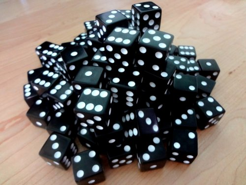 Discount Learning Supplies 100 Black Dice - 16Mm -