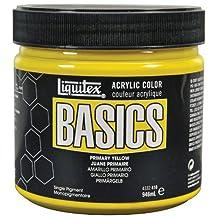 Liquitex Basics Acrylic Paint 32-Ounce Jar, Primary Yellow