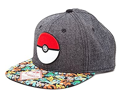 Pokemon Unisex 3D Pokeball & Pokemon Snapback Cap, One Size, Multi-Colour by Pokemon