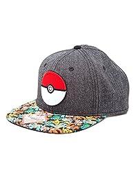 Pokemon Unisex 3D Pokeball & Pokemon Snapback Cap, One Size, Multi-Colour