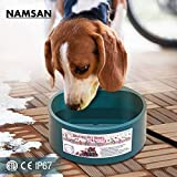 Namsan Heated Pet Bowl, Outdoor Heated Water Bowl for Pet Dogs Cats with Auto Power-Off Overheating Protection