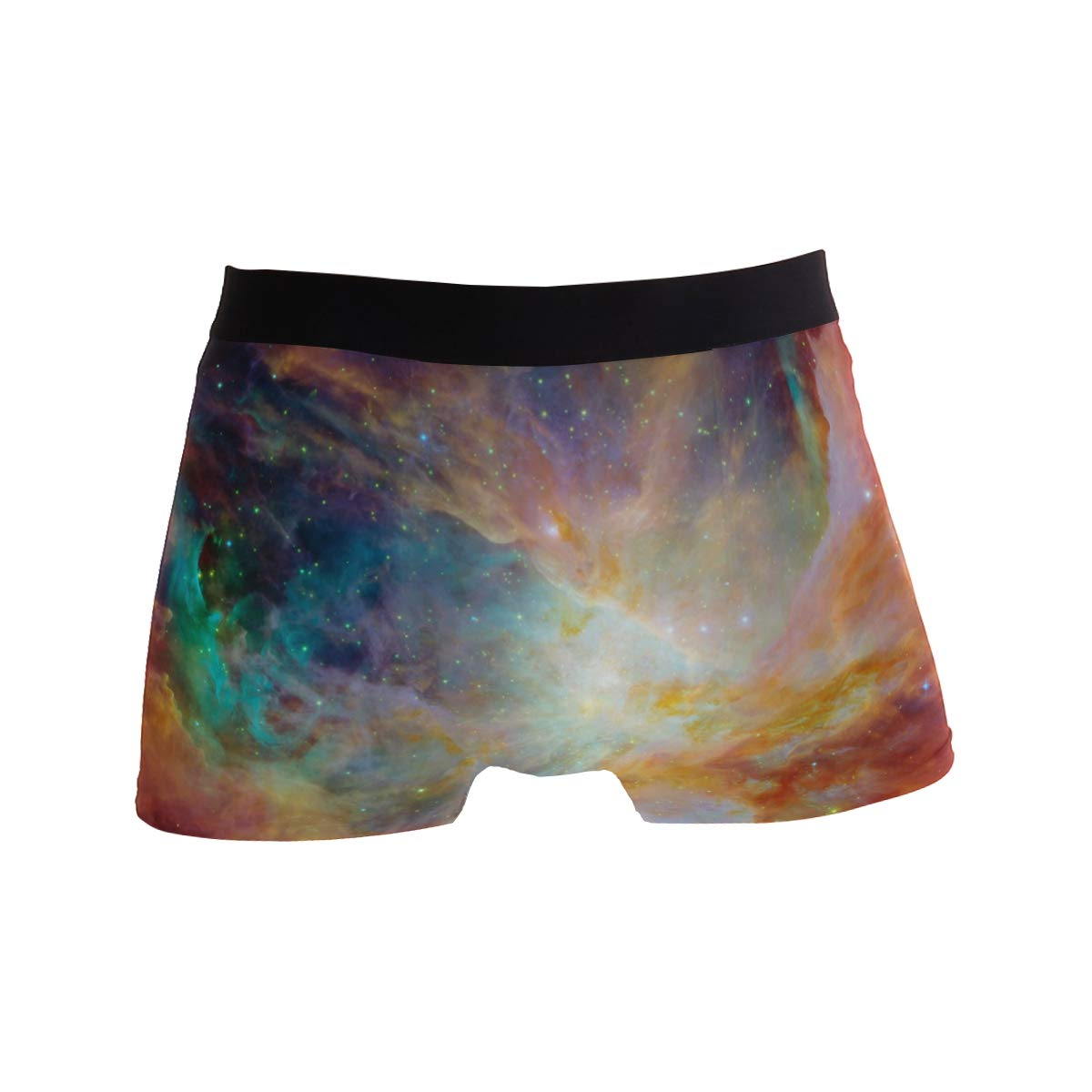 BETTKEN Mens Boxer Briefs Universe Space Galaxy Space Short Underwear Soft Stretch Underpants for Men Boys S-XL