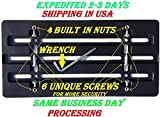 Universal Front Bumper License Plate Bracket + 6 Unique Screws and Wrench Kit